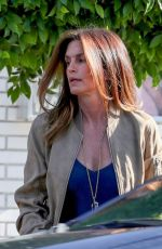 CINDY CRAWFORD Leaves a Hair Salon in West Hollywood 07/21/2021