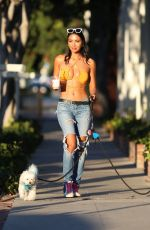CJ FRANCO Out with Her Dogs in West Hollywood 07/26/2021