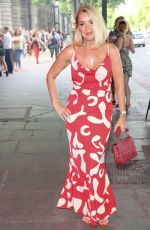 CLAIRE SWEENEY Arrives at Cabaret Allstars in London 07/08/2021