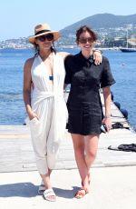CLARA MCGREGOR and GINA GERSHON at Hotel Regina Isabella in Ischia 07/23/2021