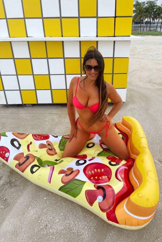 CLAUDIA ROMANI in Bikini at a Beach in Miami 07/14/2021