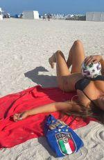 CLAUDIA ROMANI in Bikini Bottom ant Italian Soccer T-shirt 07/10/2021