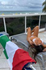 CLAUDIA ROMANI in Bikini with a Italy Flag in Miami 07/05/2021