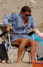 COLEEN ROONEY Out at a Beach in Wales 07/28/2021