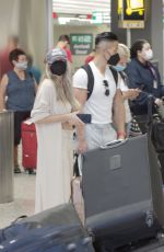 COURTNEY STODDEN and Chris Sheng Arrives in Washington 07/20/2021