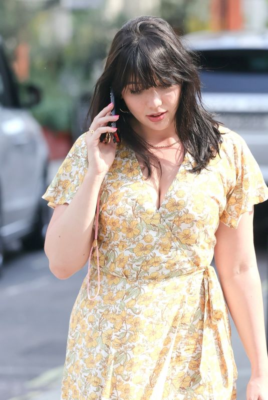 DAISY LOWE Out for Lunch at Roka Restaurant in London 07/20/2021