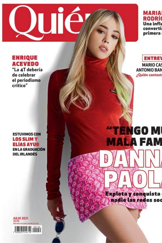 DANNA PAOLA in Quien Magazine, August 2021
