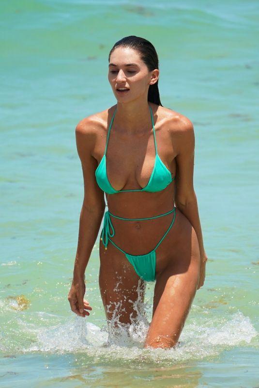 DEBORAH DEBBIE ST PIERRE in Bikini at a Beach in Miami 07/11/2021