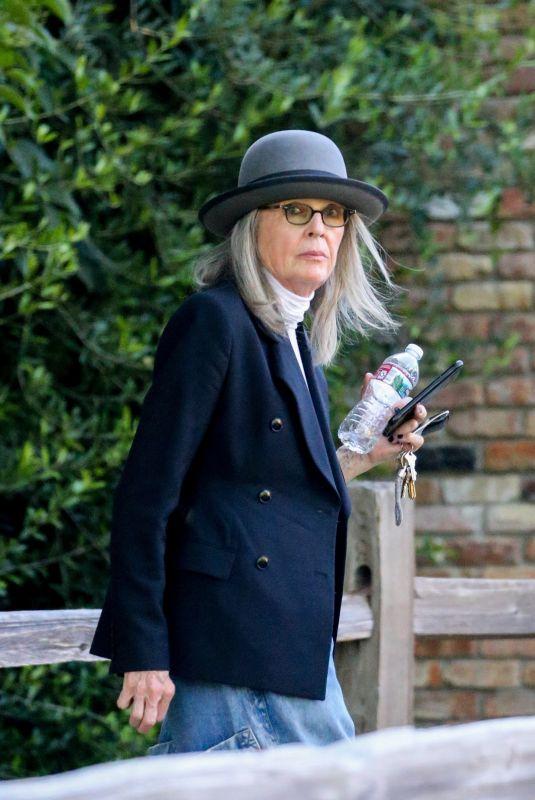 DIANE KEATON Arrives at Her Home in Santa Monica 07/21/2021