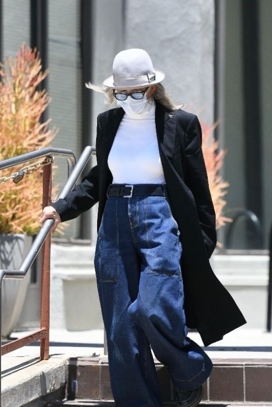 DIANE KEATON Out and About in Los Angeles 07/01/2021