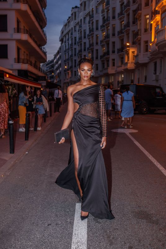 DIDI-STONE OLMODIE Heading to Chopard Dinner at 74th Cannes Film Festival 07/08/2021
