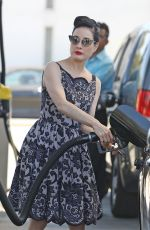 DITA VON TEESE at a Gas Station in Los Angeles 07/01/2021