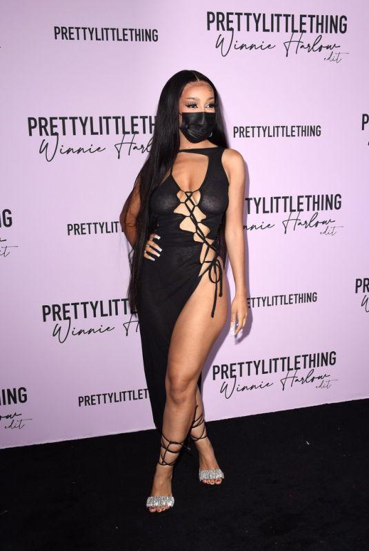 DOJA CAT at PrettyLittleThing Hosts PLT x Winnie Harlow Event in Los Angeles 07/14/2021