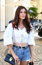 ELISA SENADOUI in Denim Shorts Out at 2021 Cannes Film Festival 07/06/2021