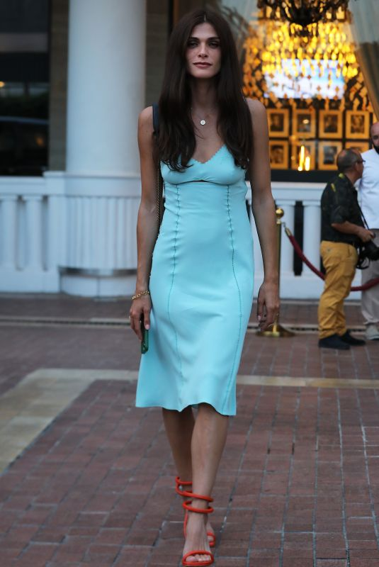 ELISA SENADOUI Leaves Hotel Le Majestic in Cannes 06/07/2021