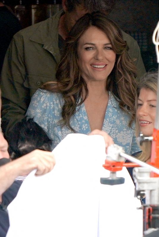 ELIZABETH HURLEY on the Set of City Girls in North Yorkshire 07/15/2021