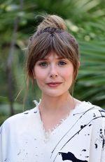 ELIZABETH OLSEN at Filming Italy Festival Photocall 07/22/2021