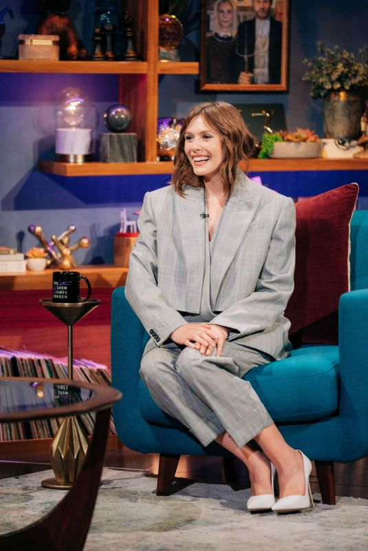 ELIZABETH OLSEN at Late Late Show with James Corden 06/18/2021