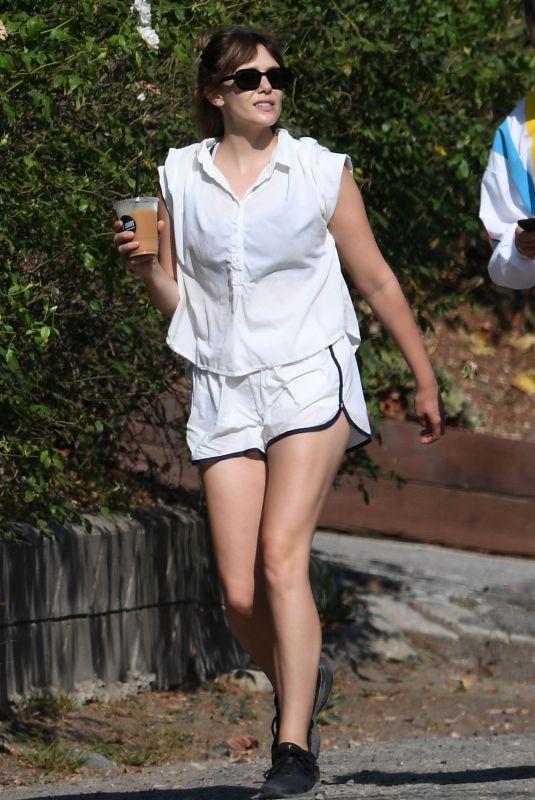 ELIZABETH OLSEN Out Hikinig in Hollywood Hills 07/09/2021