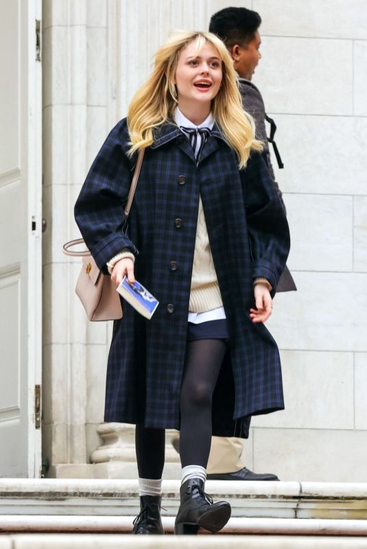 EMILY ALYN LIND on the Set of Gossip Girl in New York 07/19/2021