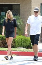 EMMA KROKDAL and Dolph Lundgren Out for Cardio Walk in Beverly Hills 07/18/2021