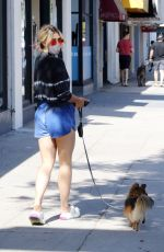 EMMA SLATER Out with Her Dog in Los Angeles 07/21/2021