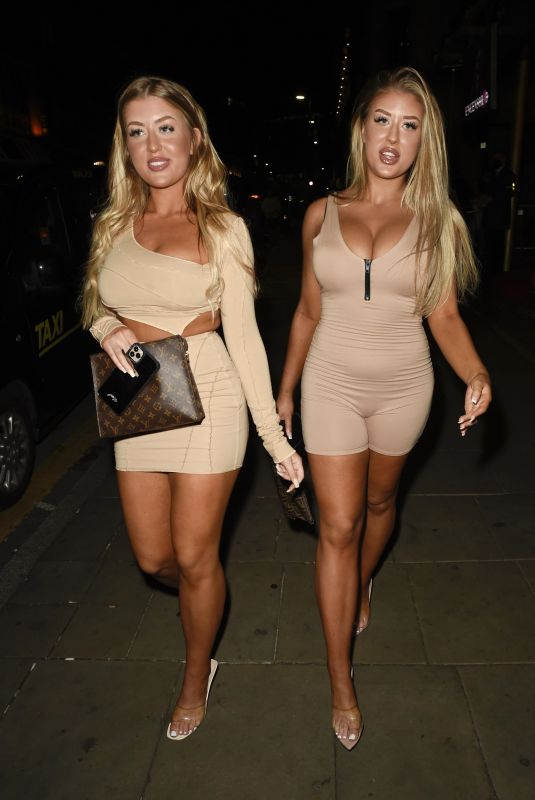 EVE and JESS GALE at Demi Jones' Birthday Party in Manchester 07/02/2021