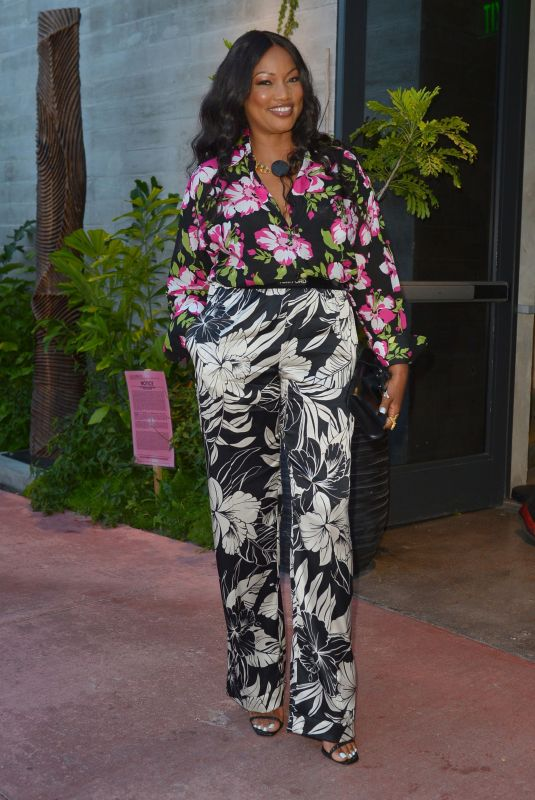 GARCELLE BEAUVAIS at Mila Restaurant in Miami 07/18/2021
