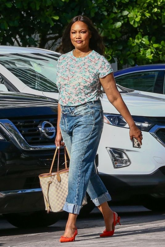 GARCELLE BEAUVAIS in Denim Leaves Her Hotel in Miami 07/16/2021