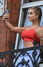 GEORGIA HARRISON at Her Hotel Isolation in London 07/29/2021