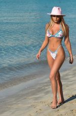 GEORGIA HARRISON in Bikini at a Beach in Miami 07/23/2021