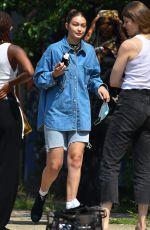GIGI HADID at a Photoshoot in Brooklyn 07/27/2021
