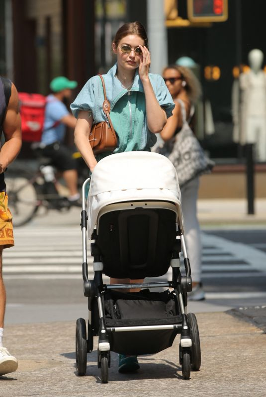GIGI HADID Out with Her Daughter Khai in New York 07/16/2021