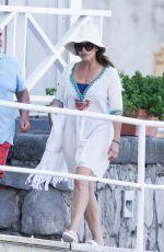 GINA GERSHON at Hotel Regina in Ischia 07/20/2021