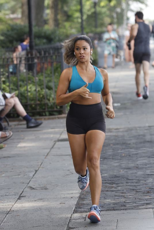 GINA RODRIGUEZ on the Set of a Untitled Movie in New York 07/27/2021