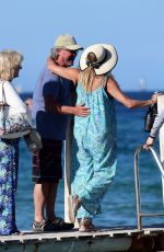 GOLDIE HAWN and Kurt Russell Leaves Club 55 in St Tropez 07/05/2021