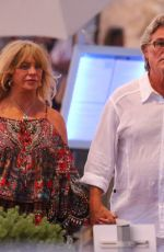 GOLDIE HAWN and Kurt Russell Out in Saint Tropez 07/10/2021