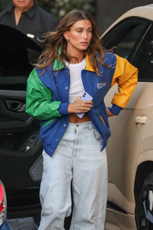 HAILEY BIEBER Arrives at London Hotel in West Hollywood 07/07/2021