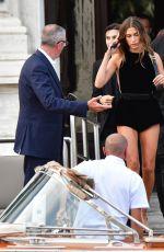 HAILEY BIEBER Heading to YSL Fashion Show in Venice 07/14/2021
