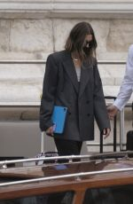 HAILEY BIEBER Leaves Amal Hotel in Venice 07/15/2021