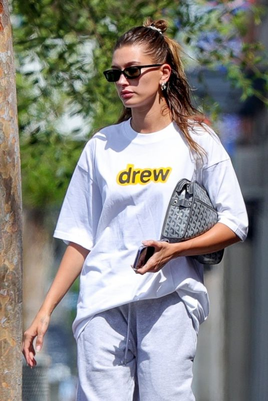 HAILEY BIEBER Leaves Voda Spa in West Hollywood 07/25/2021