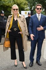 HAYLEY ATWELL, POM KLEMENTIEF and Tom Cruise at Wimbledon Championships in London 07/10/2021