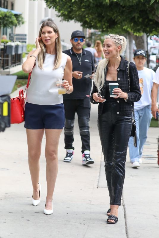HEATHER RAE YOUNG and MAYA VANDER on the Set of Selling Sunset in West Hollywood 07/08/2021