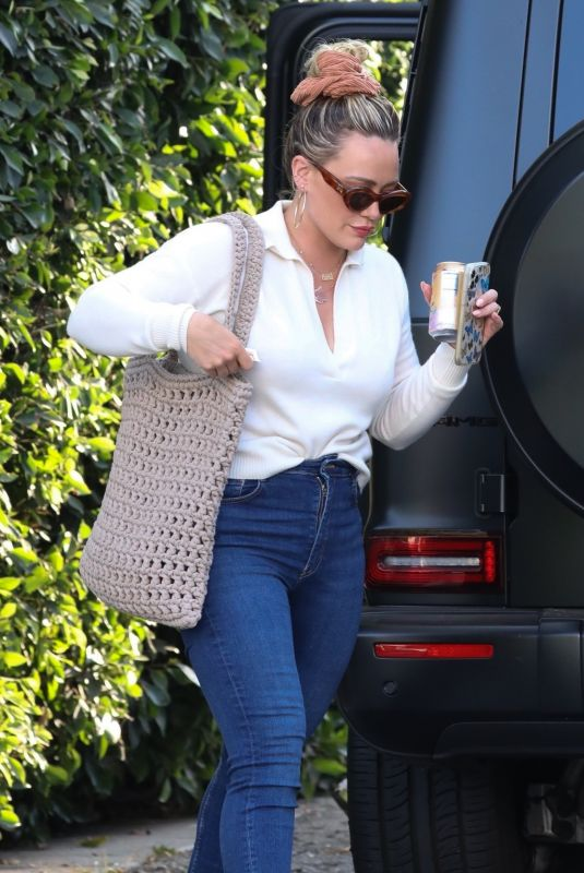 HILARY DUFF Out and About in West Hollywood 07/13/2021