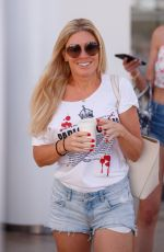 HOFIT GOLAN in Denim Shorts at Hotel Martinez in Cannes 07/10/2021