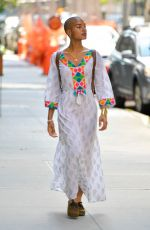 INDYA MOORE Out and About in New York 07/24/2021