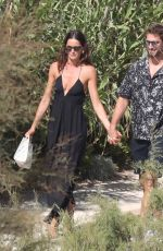 IZABEL GOULART and Kevin Trapp Out on Mykonos 07/16/2021