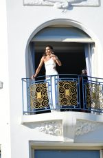 IZABEL GOULART at a Photoshoot at Hotel Martinez Balcony in Cannes 07/10/2021