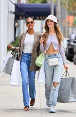 JASMINE TOOKES and JOSPEHINE SKRIVER Out Shopping in Beverly Hills 07/13/2021