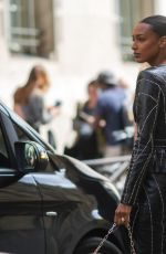 JASMINE TOOKES Arrives at Zuhair Murad Fashion Show in Paris 07/07/2021